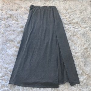 Charolette Russe Gray Maxi Skirt - Size S ✨